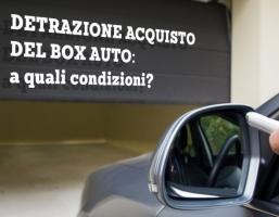 Detrazione box auto anche senza bonifico